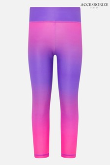 Accessorize Pink Ombre Gym Leggings