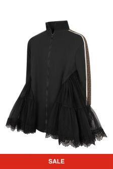 Fendi Kids Girls Black Silk Dress