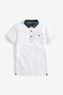 White Premium Smart Polo (3-16yrs)
