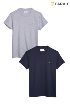 Farah Red/Navy Farris T-Shirts Two Pack