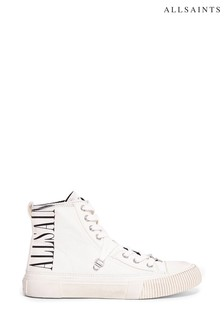 AllSaints Elena Printed High Top Lace-Up Canvas Trainers