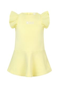 Chloe Kids Girls Yellow Cotton Dress