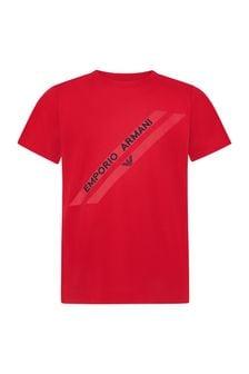 Emporio Armani Boys Red T-Shirt