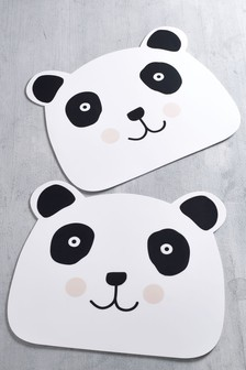 Set of 2 Panda Wipe Clean Placemats