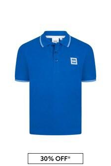 قميص بولو قطن أزرقأولادي