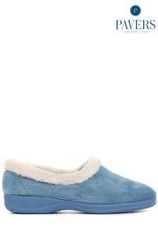 Pavers Blue Ladies Full Slippers