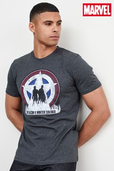 Charcoal Falcon Winter Soldier TV And Film Licence T-Shirt