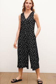 Black Spot Culotte Jumpsuit