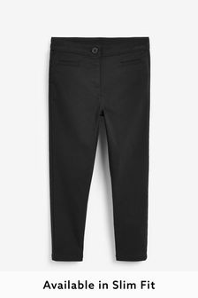 Black Skinny Stretch Trousers (3-16yrs)