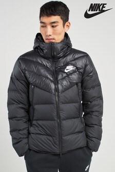 Black  Nike Down Filled Jacket