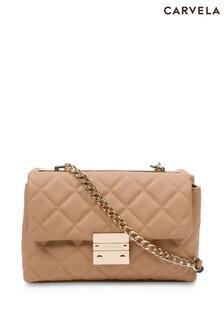 Carvela Camel Bailey Soft Quilted Shoulder Bag