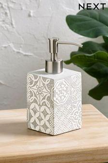 Tile Print Soap Dispenser
