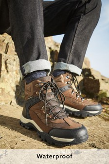 Brown Waterproof Hiker Boots