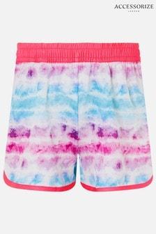 Accessorize Pink Tie Dye Gym Shorts