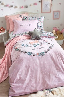 100% Cotton Mystical Woodland Reversible Duvet Cover and Pillowcase Set
