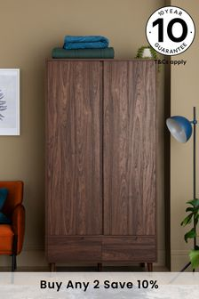 Walnut Oslo Double Wardrobe