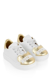 Girls White & Silver Teddy Trainers