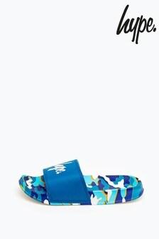 Hype. Blueline Camo Kids Sliders