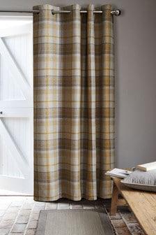Dalton Check Door Curtain