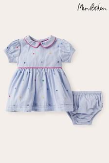 Boden Multi Embroidered Spot Dress