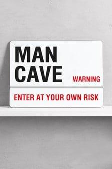Man Cave Metal Wall Art/Metal Sign