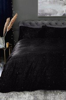 Sparkle Velvet Duvet Cover And Pillowcase Set