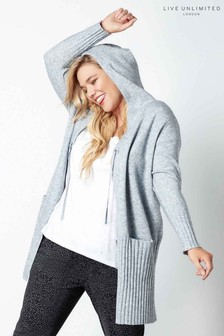 Live Unlimited Grey Hooded Cardigan