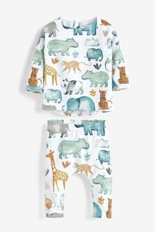 Multi Animal T-Shirt And Leggings Set (0mths-2yrs)