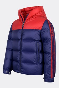 Boys Blue Down Padded Borgon Jacket