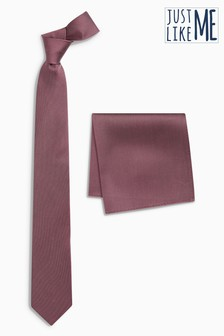 Rose   Tie And Pocket Square Set