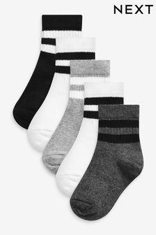 Monochrome 5 Pack Sport Socks (Younger)