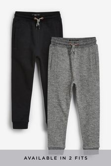 Black/Grey Skinny Fit 2 Pack Joggers (3-16yrs)