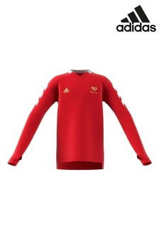 adidas Red Mo Salah Long Sleeve Jersey Top
