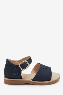 Navy Leather Little Luxe™ Sandals (Younger)