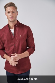 Berry Slim Fit Long Sleeve Stretch Oxford Shirt