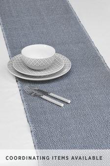 Grey Geo Fabric Table Runner
