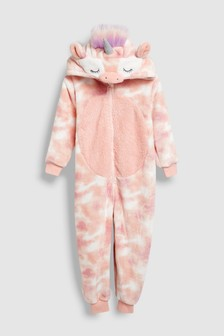 3d7e7607b2 Pink Unicorn Fleece All-In-One (3-16yrs)
