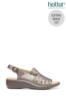 Hotter Rosella Extra Wide Fit Buckle Fastening Wedge Sandals