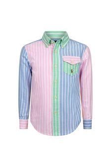 قميص قطن ألوان متعددة أولادي