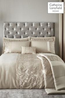 Velvet Sparkle Duvet Cover and Pillowcase Set by Catherine Lansfield