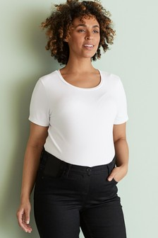 White Maternity Jersey T-Shirt