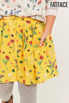 FatFace Yellow Spring Floral Skirt