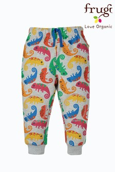 Frugi Grey Chameleon GOTS Organic Cosy Knee Patch Joggers
