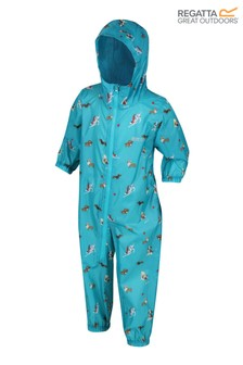 Regatta Kids Waterproof All-In-One Printed Puddlesuit