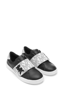 Girls Black & White Trainers