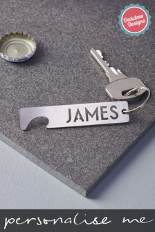 Personalised Steel Bottle Opener by Oakdene Designs
