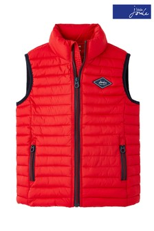 Joules Red Crofton Packaway Padded Gilet