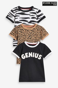 Myleene Klass Kids Unisex 3 Pack T-Shirts