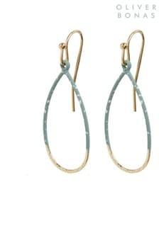 Oliver Bonas Blue Hicks Teardrop Textured Blue Drop Earrings