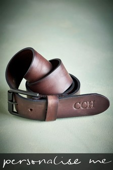 Personalised Signature Italian Leather Belt